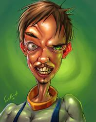 Self Portrait le Earthworm Jim by Cane-force