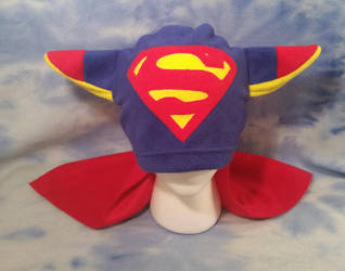 Superman Fox Hat with Cape by HatcoreHats