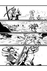 REAL WEST #1, p2 Inks by ACZamudio