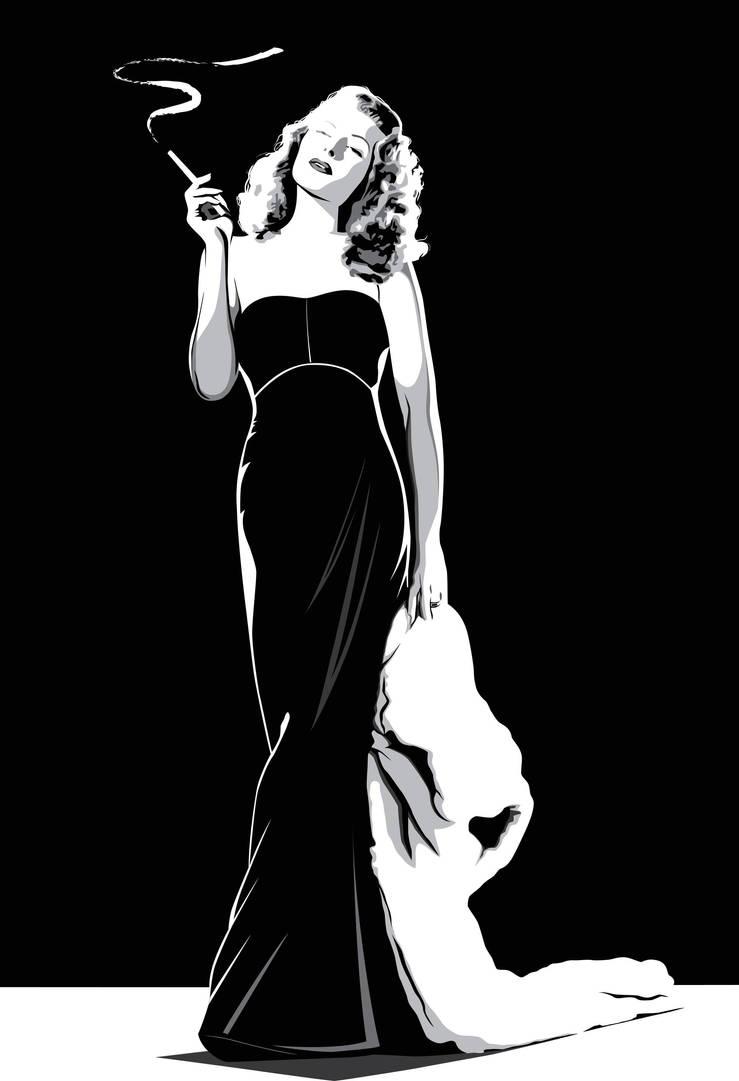 Rita Hayworth by pin-n-needles