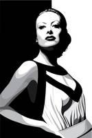 Joan Crawford by pin-n-needles