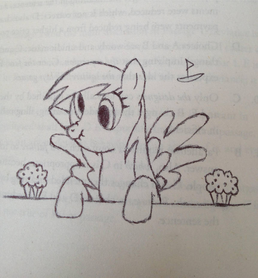 Derpy Hanging With Her Muffins Sketch by CaptainBoat