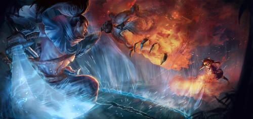 League of Legends contest - Yasuo vs. Annie by quanro