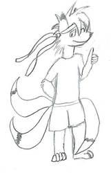 Kitsare, chibi form by NanashiEru