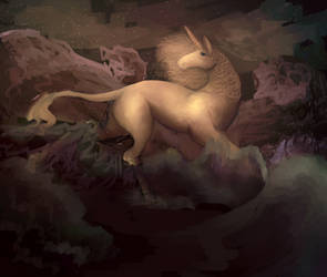 Last Unicorn In The Sea (WIP) by CheeryCandy