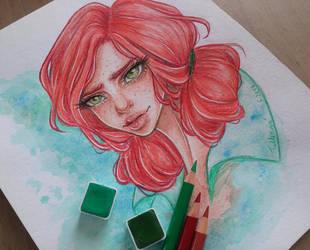 Triss Merigold by LenielSOna