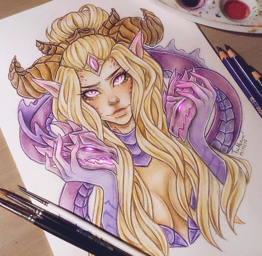 Dragon Sorceress Zyra by LenielSOna