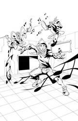 The Origins Of Notes Original Inks by SuperheroEnterprise