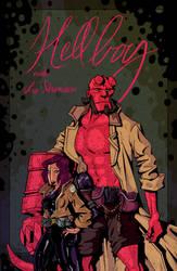 Hellboy 'n' Liz by juhaszmark