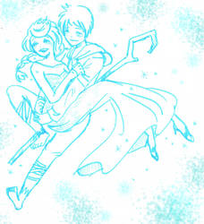 Snow flies in the sky - Jelsa by to-ey
