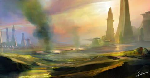 Polluted Planet by GuilleBot
