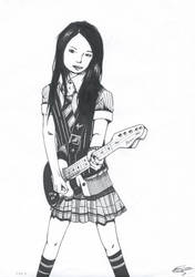 Guitar Girl by 2410ED