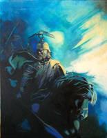 Brennus Oil on canvas by VincentPompetti