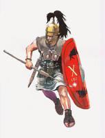 Roman Legionary Legio X Triarii by VincentPompetti
