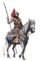 Gallic Horseman II by VincentPompetti