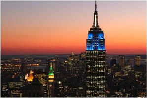 Empire State from Rockfeller by flemmens