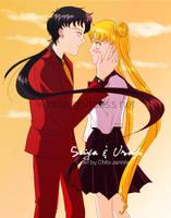 Seiya and Usagi by Chibi-Jennifer