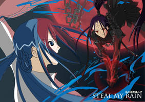 Steal My Rain: Yui and Death Soldier by Chibi-Jennifer