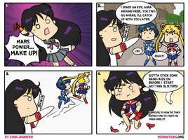 Pretty Soldier Sailor Mars comic by Chibi-Jennifer