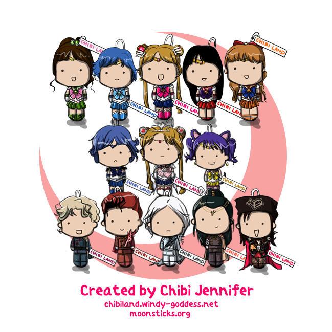 PGSM Set Chibi Dolls by Chibi-Jennifer