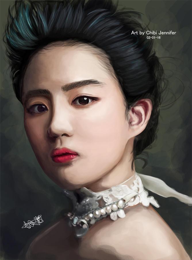 Crystal Liu Yifei Portrait by Chibi-Jennifer