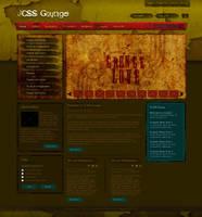 Joomla Template:: Grunge Style by princepal