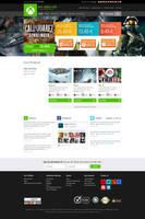 Xbox Live Web Interface Design - Minimal Version by princepal