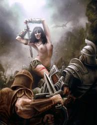 Civil war in Skyrim by CELENG