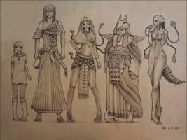 little egypt - chara lineup by princess-aki