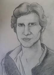 Han Solo Sorta Caricature by GamerZzon