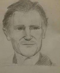 Liam Neeson Sketch by GamerZzon