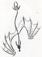 Tribal Dragon Tattoo Design by Venomwing