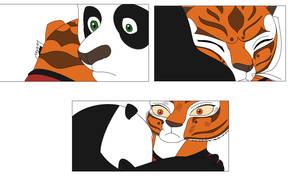 Po and Tigress hug by Agi6