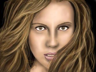 Kate Beckinsale digital art by D-B-Dot-Com