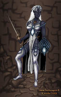 Drow priestess by Kanuka76