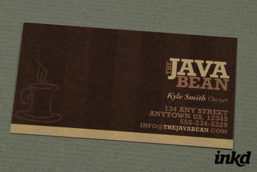 Cozy Coffee Shop Business Card by inkddesign
