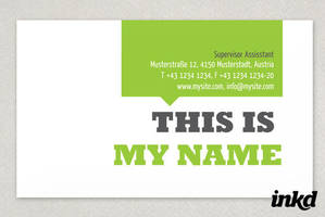 Small Business Business Card by inkddesign