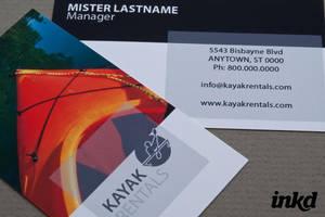 Kayak Rental Business Card by inkddesign