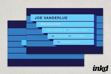 Blue Bar Technology Business by inkddesign