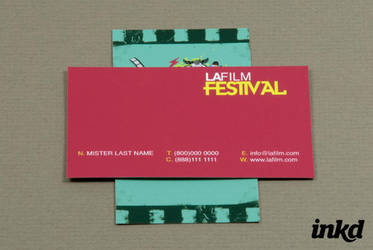 Film Festival Business Card by inkddesign