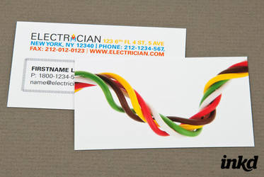 Electrician with Twisted Wires by inkddesign