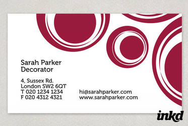 Classic Circles Business Card by inkddesign