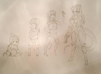 Yuuka Pencil Sketch 2 by Yukas-Armstrong