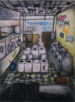 Abandoned Laundry 1 by gypsysnail
