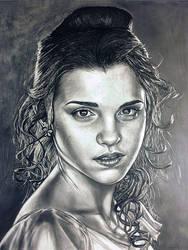 Emma Watson pencil drawing by moisessurielart