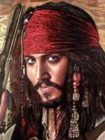 Jack Sparrow oil painting version 2 by moisessurielart