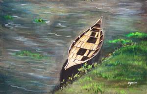 lone boat by ashfaq-ayon