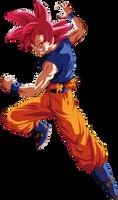 Goku (Super Saiyan God) by TheTabbyNeko