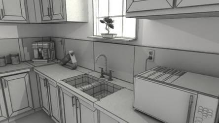 Kitchen Render by 5h4dow