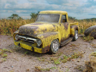 broken ford truck by rustyoldmodels